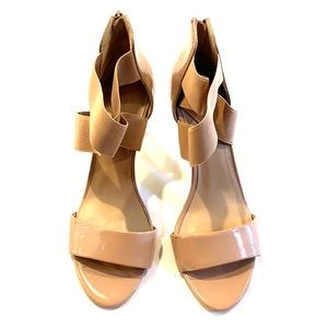 Saks Fifth Avenue nude heels 8.5